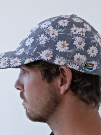Washed Chino Cap – Grey Daisy (Cape Town embroidered)