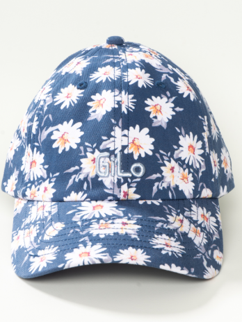 Washed Chino Cap In Navy Daisy
