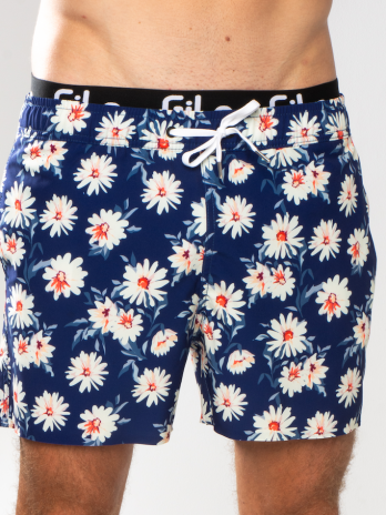 GiLo Lifestyle Shorts – Navy Daisy