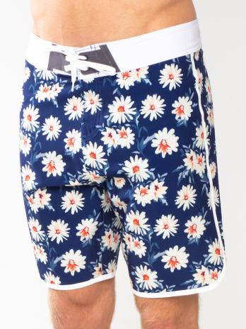GiLo Retro Boardshorts – Navy Daisy