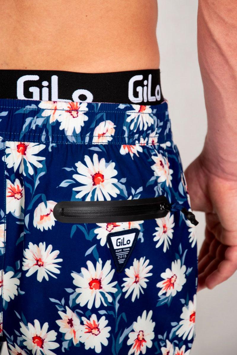 GiLo Lifestyle Shorts - Navy Daisy