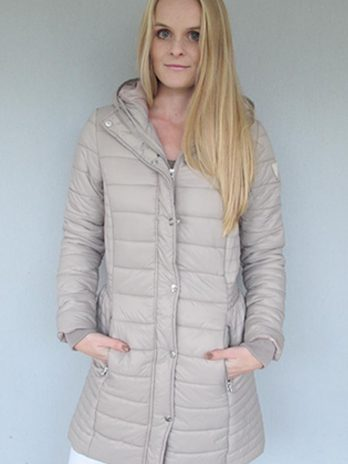 Sassy Sand Long Puffer Jacket