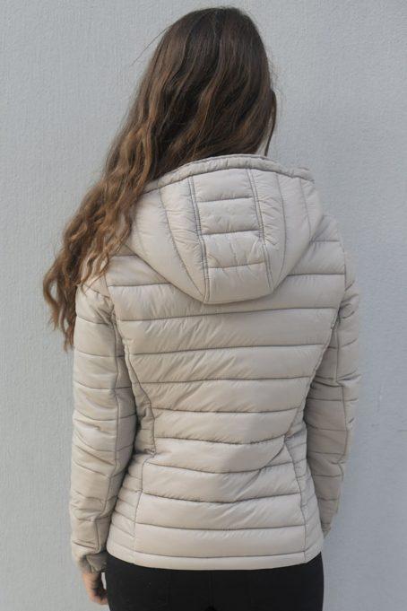 Sassy Sand Short Puffer Hooded Jacket