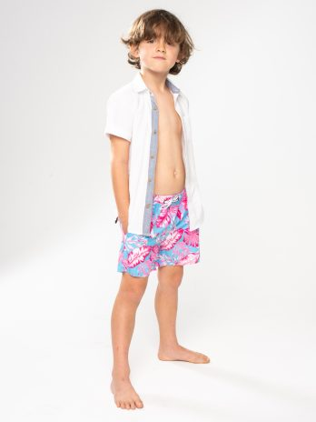 NEW GiLo Kiddies Classic Shorts – Toucan Pink & Sky