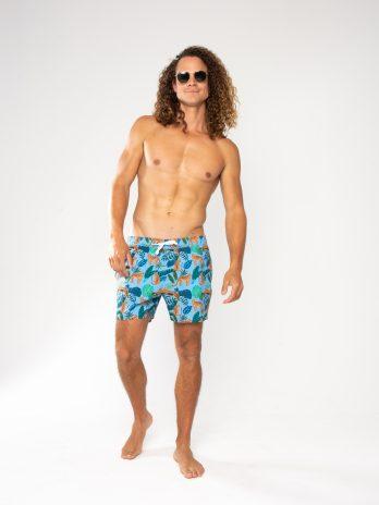 NEW GiLo Classic Shorts – Leopard Print Blue