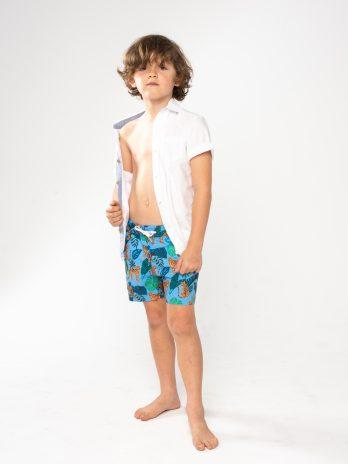 NEW GiLo Kiddies Classic Shorts – Leopard Print Blue