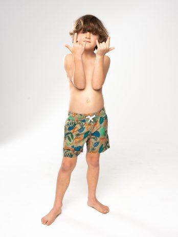NEW GiLo Kiddies Classic Shorts – Leopard Print Olive