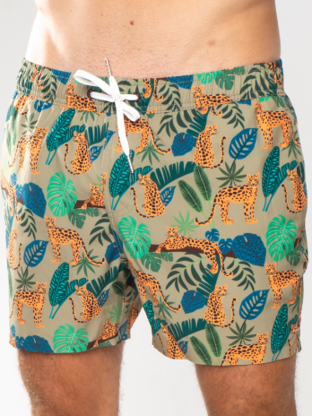 GiLo Classic Shorts – Leopard Print Olive