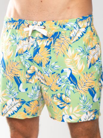 GiLo Classic Shorts – Toucan Sage & Orange