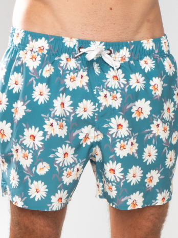 NEW GiLo Classic Shorts – Soft Forest Green Daisy