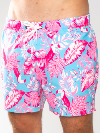 GiLo Classic Shorts – Toucan Pink & Sky