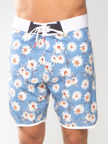 GiLo Printed Boardshorts – Grey Blue Daisy