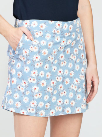 NEW GiLo Ladies Skort – Grey Blue Ditsy Daisy