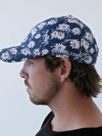 Washed Chino Cap – Navy Daisy (Cape Town embroidered)